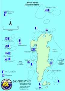 Map North West Solitary Island